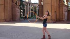 combo of a cat-eye isolation, ghosting, and turning in a circle: Hoop Dance Tutorial: Morgan's Magic Move!