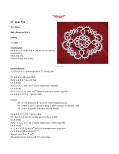 tatting - pattern