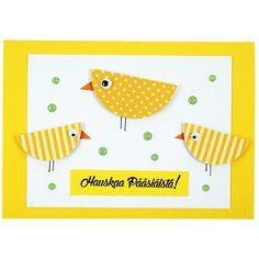 Kuvioleikkurin avulla valmistettu kortti. Easter Crafts, Ideas, Pictures, Thoughts