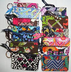 Vera+Bradley+Zip+ID+Case+Multiple+Colors+Fast+Shipping..... Canterberry MAGENTANT!!!!!!!!!!