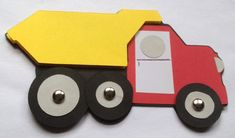 Paper dump truck craft kit for kids by mimiscraftshack on Etsy, $1.25