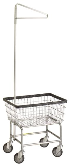 Standard Laundry Cart With Single Pole Rack at Material Handling Solutions