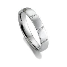 Gorgeous diamond wedding or engagement ring in white gold, palladium 950 or platinum 950 by Woolton & Hewitt LGBT jewellers for engagement & wedding rings www.wooltonandhewitt.co.uk #gaymarriage #equalmarriage #LoveIsLove