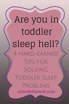 Getting toddlers to sleep - problematic for many. 4 tips that just might work!