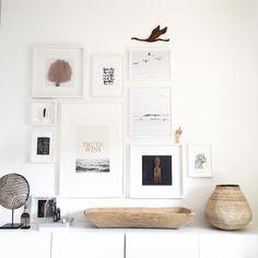 Lovely gallery wall @heimatbaum