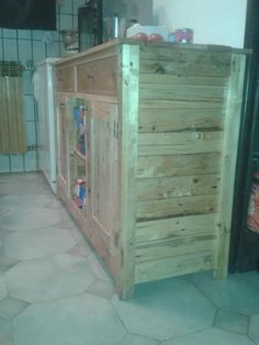 DIY Upcycled Pallet Kitchen Cabinet | 99 Pallets