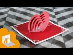 Tarjeta Pop Up corazon en cascada / para san valentin - YouTube