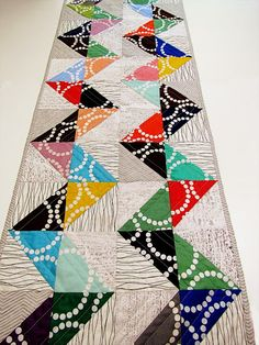 Table Runner by Marty Mason using Lizzy House Pearl Bracelet Fabric