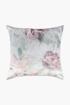 Velvet Printed Rose Feather Scatter Cushion, 60x60cm - Shop New In - H Down Feather, Home Decor Shops, Scatter Cushions, Floral Prints, Velvet, Tapestry, Living Room, Printed, Rose
