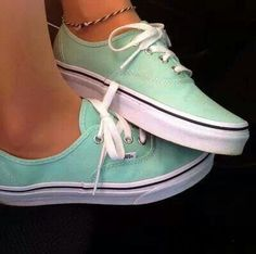 Mint vans shoes...hell yes.