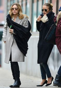 How To Pair Jeans And A Coat For Fall Like The Olsen Twins