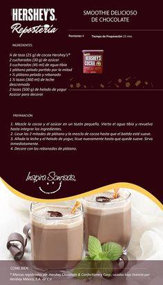 Una deliciosa receta preparada con Cocoa Hershey's®. #Hersheys #Chocolate #InspiraSonrisas #Repostería #Postres #Receta #DIY #Bakery #Pastel
