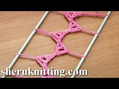 ▶ Hairpin Lace Strip Tutorial 20 Triangle Elements In The Middle - YouTube