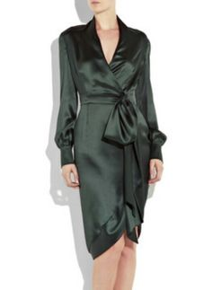 YSL's satin wrap dress