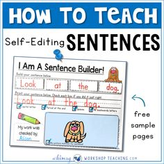 We practice building sentences every day using activities that are interactive. Writing daily sentences also provides practice for focus spelling patterns. 1st Grade Writing, Kindergarten Writing, Writing Activities, Teaching Reading, Writing Ideas, Writing Centers, Alphabet Activities, Writing Resources, Kindergarten Classroom
