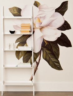 Wall Stickers like these, and a number of other fairly sophisticated art offerings and prints from this English company that ships worldwide- worth a look! The snake no.but the gardenia is stunning! Showroom Design, Diy Wall Art, Painted Wall Art, Giant Wall Art, Painted Walls, New Wall, Decoration, Interior Inspiration, Wall Murals