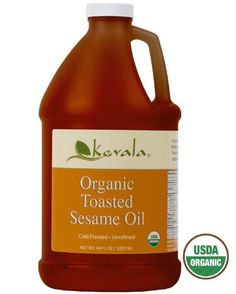 Organic Toasted Sesame Oil, Kevala, 1/2 Gallon - http://goodvibeorganics.com/organic-toasted-sesame-oil-kevala-12-gallon/