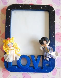 Handmade Sailor Moon picture frame with polymer by Akindoonline