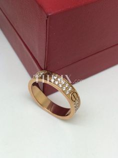 0c7ec50840b Replica Cartier Love Diamond Gold Ring 1 1 High Quality Cartier Ring Size  From Us5