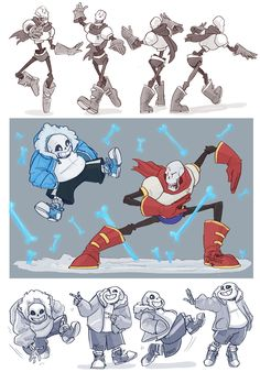 Undertale- Skelebros by MadJesters1.deviantart.com - Papyrus and Sans