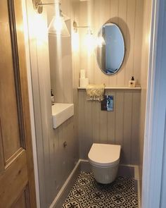 Roses and Rolltops : Makeover - Downstairs Cloakroom Small Downstairs Toilet, Small Toilet Room, Downstairs Cloakroom, Small Bathroom, Bathroom Storage, Bad Inspiration, Bathroom Inspiration, Understairs Toilet, Outside Toilet