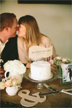 celebrate first anniversary with wedding cake by classically lovely events #weddingcake #anniversary #weddingchicks http://www.weddingchicks.com/2014/01/22/classically-lovely-events/