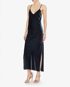 Exclusive for Intermix Addison Velvet Slip Dress   Shop IntermixOnline.com