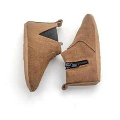 Brown Chelsea Baby Moccasin Boot with Anti-Slip Sole 30bae1a7ae4e