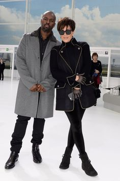 (L-R) Corey Gamble and Kris Jenner attend the Chanel show as part of the Paris Fashion Week Womenswear Spring/Summer 2016 on October 2015 in Paris, France. Kardashian Style, Kardashian Jenner, Kylie Jenner, Kardashian Fashion, Kris Jenner Style, Reality Shows, Bae Goals, Kristin Cavallari, Teyana Taylor