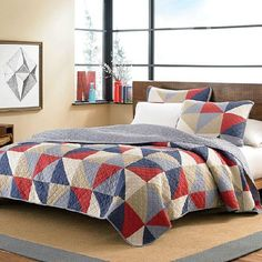 Shop for Eddie Bauer Chelan Cotton Reversible Quilt Set - Multi. Get free delivery On EVERYTHING* Overstock - Your Online Fashion Bedding Store! Eddie Bauer, Bed In A Bag, Blue Quilts, Bed Sets, Quilt Sets, Bed Spreads, Comforter Sets, Home Decor, Blankets Online
