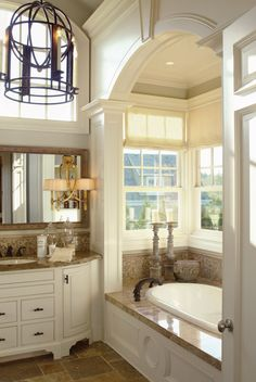 Love the tub, ceiling, windows