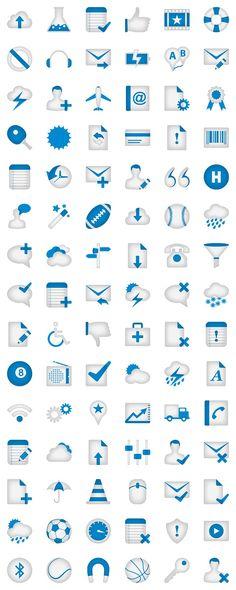 Minimalistica Part 2 Icon Set, by DryIcons.com #blue #web #icons #design