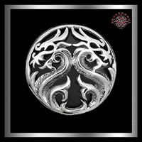Crâne Avec Serpent Concho Screw Back Punk ornement 30 mm