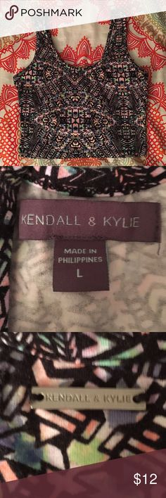 Kendall and Kylie brand multi-color Aztec crop top Pacsuns brand, Kendall and Kylie brand multi-color Aztec crop top, size L. Fits M-XL body types. Stretchy material. Perfect condition never worn. Tops Crop Tops