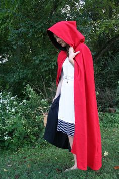 115ebbbe3 Red and Black Reversible cloak! Red Riding Hood Costume, Hooded Cloak,  Cloaks,