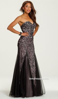 http://www.ikmdresses.com/Strapless-Two-Toned-Beaded-Dress-with-Swirl-p87528