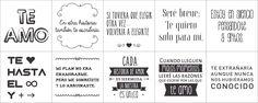 vinilos para frascos 10 frases de amor 6.5 x 6.5 cm