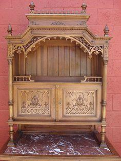 gothic+antique+furniture | French Antique Gothic Furniture Antique Hutch…