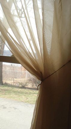 One Lovely Wheat Color Sheer Curtain 60 x 63 Vintage Curtains, Shabby Chic Curtains, Diy Curtains, Sheer Curtains, Colorful Curtains, Window Coverings, Etsy, Decor, Decoration
