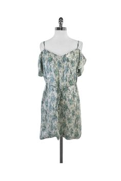 French Connection- Turquoise & Grey Sequin Dress Sz 6 | Current Boutique