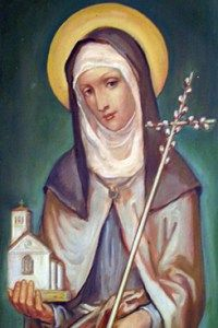 Saint Clare of Assisi Feast day: August 11 Patron of sore eyes Clare was a beautiful Italian noblewoman who became the Foundress. Catholic Art, Catholic Saints, Patron Saints, Religious Art, Francis Of Assisi, St Francis, Ste Claire, Sainte Therese De Lisieux, Clare Of Assisi