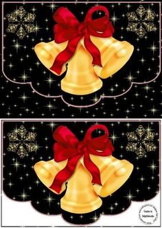 Christmas Bells on Craftsuprint designed by Gail Collins - a  pretty xmas…