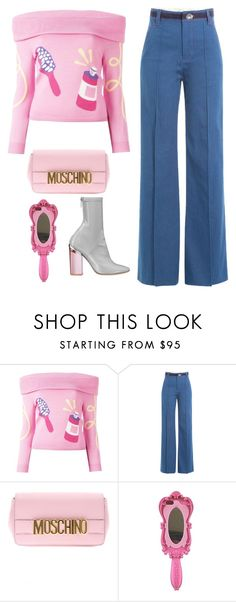 """Untitled #1430"" by artiola-fejza ❤ liked on Polyvore featuring Jeremy Scott, Marc Jacobs, Christian Dior and Moschino"