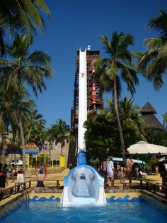Let's go INSANO? SEC Drop Water Slide! Insano is a water attraction at Beach Park which is located in Fortaleza, Brazil. Insano is the highest water slide in the world standing at 41 meters high which is equivalent to a 14 building story! Water Slides, Pool Slides, Beach Park, Visit Brazil, Wisconsin Dells, Park Resorts, Places To Go, Beautiful Places, Roller Coasters
