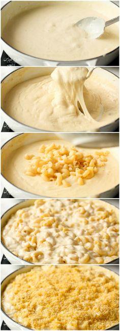 CREAMY GARLIC PARMESAN MAC AND CHEESEReally nice recipes. Every  Mein Blog: Alles rund um die Themen Genuss & Geschmack  Kochen Backen Braten Vorspeisen Hauptgerichte und Desserts # Hashtag