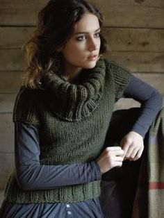 Hearth - Knit this women's stocking stitch pullover from Pioneer, a design by Martin Storey using the gorgeous yarn Creative Focus Worsted (wool and alpaca). With a gorgeous large roll back collar and short ribbed sleeves, this knitting pattern is for the beginner knitter.