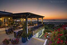 The Sunset Balcony restaurant in in Zia village, Kos island, Greece ✯ ωнιмѕу ѕαη∂у