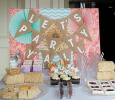 We Heart Parties:  Vintage Nashville Bachelorette Party - Let's Party Y'all! Party decor from orientaltrading.com. A great look for your Western theme wedding party.