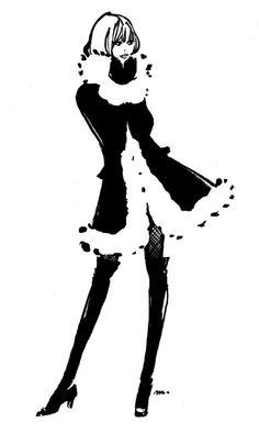 エレガントでクラシックなファッションイラストに「かわいい」エッセンスをプラス♡