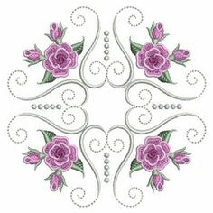 Pearl Roses Quilt 8, 4 - 3 Sizes! | What's New | Machine Embroidery Designs | SWAKembroidery.com Ace Points Embroidery